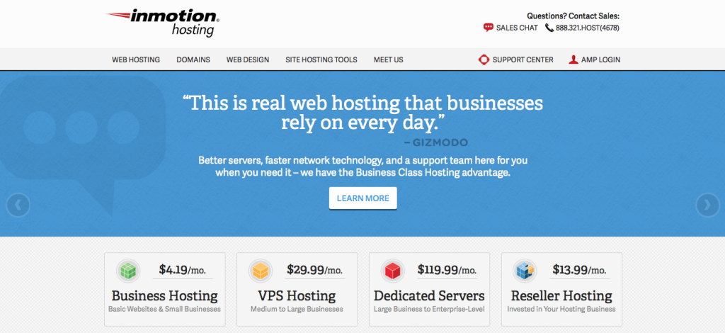 inmotionhosting screen